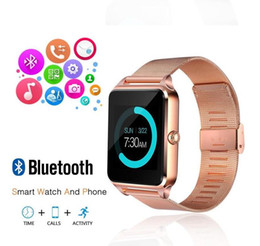 $enCountryForm.capitalKeyWord NZ - Z60 Smart Watch Phone Stainless Steel Support SIM TF Card Camera Fitness Tracker GT08 DZ09 A1 V8 Best Metal Bluetooth Smartwatch for Android