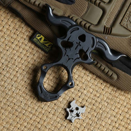 outdoor self defense multi tool 2019 - District 9 Satan single finger ring TC4 Titanium Self Defense punch daggers outdoor Buckle Survival pocket EDC Knuck knu
