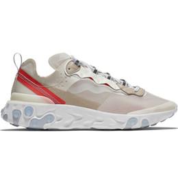 Epic React Element 87 Undercover Hommes Chaussures De Course Pour Femmes Designer Sneakers Sports Hommes formateur Chaussures Voile Light Bone