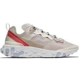 Vente en gros React Element 87 Undercover Hommes Chaussures De Course Pour Femmes Designer Sneakers Sports Hommes formateur Chaussures Voile Light Bone Royal Tint