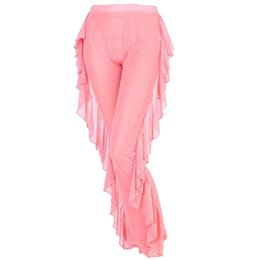 84f4629cfb39e Sheer Swimwear UK - Women Beach Dress Mesh Sheer Bikini Cover Up Swimwear  Bathing Suit Pant