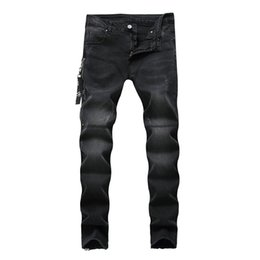 China New Dropshipping Skinny Jeans Men Black Classic Hip Hop Stretch Zipper Jeans Hombre Slim Fit Famous Brand Biker Style Tight Pant supplier new style skinny jean men suppliers