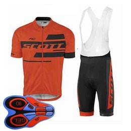 $enCountryForm.capitalKeyWord Australia - Scott team Cycling Short Sleeves jersey (bib) shorts sets new Breathable Mountain bike Sportwear 9D GEL Pad shorts 92830J