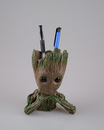 $enCountryForm.capitalKeyWord Australia - Groot 2th Action Figures Guardians of The Galaxy Flowerpot Baby Cute Model Toy Pen Pot Best Gifts PVC Action Figurine