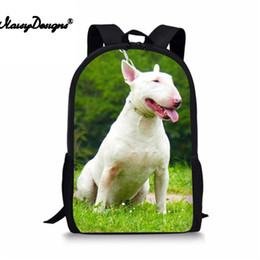 Wholesale Bull Terrier Printed Kids Boys Girls Primary School Bag D Cartoon Children Book Bags Teens Kawaii Casual Student