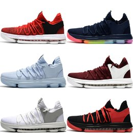 00008b159b77ea KD 10 Anniversary PE BHM AA4197-003 Oreo Triple Black White Men Basketball  Shoes Mens KD 10 Elite Low Kevin Durant Athletic Sports Sneakers