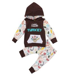 China Thanksgiving baby outfits children boy girls Turkey print Hooded top+pants 2pcs set 2018 Autumn fashion kids Clothing Sets C4983 supplier turkey clothes wholesalers suppliers