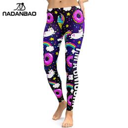 141dd0bca9cc1b 2019 NADANBAO 2018 Unicorn Party Series Leggings Women Colorful Digital  Print Sexy Plus Size Leggins Casual Workout Fitness Pants
