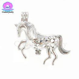 $enCountryForm.capitalKeyWord UK - Fashion unicorn love wish akoya pearls cages silver plated new pendants Christmas best gift necklaces for women men children