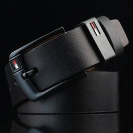 Nueva llegada del diseñador Pin Buckle PU cinturones de cuero para los hombres Marca de lujo de cuero de la pu Cinturón para hombre ceinture masculino LH-P76