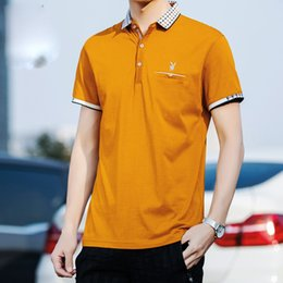 brand mens polo NZ - New Mens Printed Brand Polo Shirts 100% Cotton Short Sleeve Camisas Polo Stand Collar Male Polo Shirt M-3XL
