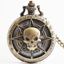 animation gifts 2019 - Japanese Animation Cross Theme Quartz Fob Pocket Watch With Necklace Chain Vintage Pendant Best Gift for Children cheap
