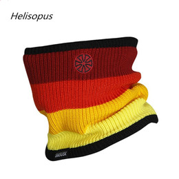 $enCountryForm.capitalKeyWord Australia - Helisopus Unisex Knitting Cap Outdoor Sport Men Ski Cap Rainbow Double-deck Polar Fleece Windproof Warm Neck Bicycle Loop Scarf