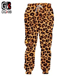 Men Leopard Print Pants NZ - OGKB Jogger Pants Homme Fashion Long Animal 3D Trousers Print Leopard Sweatpants Streetwear Oversized Garment Man Autumn Pants