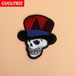$enCountryForm.capitalKeyWord UK - GUGUTREE skull patches Toothbrush embroidery patches,Sequined Applique Patch for Coat,T-Shirt,hat,bags,Sweater,backpack TP-1