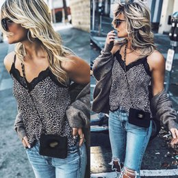 0d21da57153b38 2018 NEW Women Sexy Sleeveless V Neck Leopard Snake Skin Print Camis Lace  Crochet Slim Club Party Tank Tops