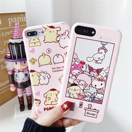 TransparenT cuTe carToon case online shopping - 2018 Cartoon For iphone x Mobile Shell ip8plus Cover p Drop x Cute s Soft Shell p Embossed Lanyard