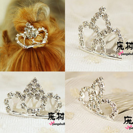 Dog Grooming Hair Clip Australia - Pet Crown clip Dog Grooming Lovely Princess Rhinestone Crown Clip Pet Dog Hair Decoration Elegant Hairpin 20pcs lot