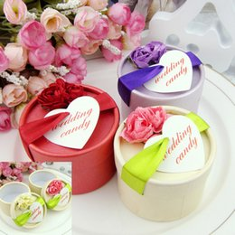 Wholesale gift cylinder online shopping - European Gift Bags Dry Flowers Cylinder Paper Exquisite Candy Box Beautiful Wedding Favors Baby Shower Gifts wk UU