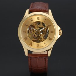 Glasses Trade Australia - Cross-border foreign trade men's automatic mechanical hollow leather belt mechanical men's watch