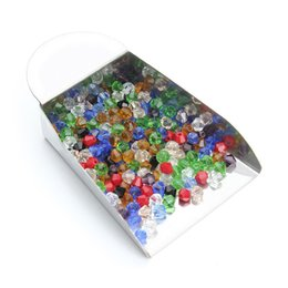 Wholesale 200 Pcs Mixed Faceted Crystal Acrylic Pear Shape Spacer Beads For DIY Jewelry Bracelet Necklace Findings Jewelry Making F2350