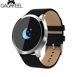 Q8 Smart Watch NZ - GAGAFEEL Q8 Smart Watch Color Screen Smart Bracelet Waterproof Fitness Heart Rate Monitor Pedometer Wristband