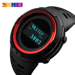 753cff78116 SKMEI Fashion Sport Watch Men Waterproof Calorie Steps Mileage Digital PU  Strap Watch Compass Wristwatch Relogio Masculino