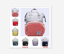 Wholesale DHL color Diaper Backpack Stripe Stitch Multi color Baby Mommy Changing Bag Mummy Backpack Nappy Mother Maternity Backpacks Oxford Cloth