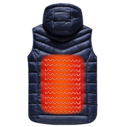 China Drop shipping Men Outdoor USB Infrared Heating Vest Jacket Winter Carbon Fiber Electric Thermal Waistcoat ABZ65 cheap infrared carbon fiber suppliers