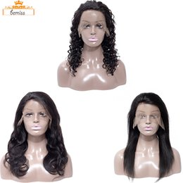 Discount indian straight human hair wigs - Brazilian Straight Human Hair Lace Wigs Deep Body Wave Pre Plucked Lace Front Wigs with Baby Hair Unprocessed Brazilian