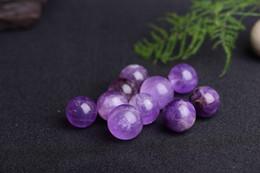 Magic Crystal Balls Canada - wholesale 7pcs 20-25mm Rare Natural Quartz purple Crystal Sphere Clear Magic Ball Chakra Healing Gemstone home decor