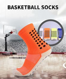 Rugby Socks Canada - High Quality Adult Silica gel Non-Slip Men Medium Tube Socks 4 Color Outdoor Sports Socks For Basketball Football Running Free DHL G485Q