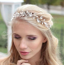 Rose gold cRystal haiR accessoRies online shopping - Bridal headwear hair ornaments wedding accessories wedding dress accessories white water drops