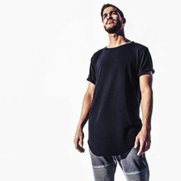 Woman s sWag clothing online shopping - Fashion Men Extended Hip Hop T shirt Longline Hip Hop Tee Shirts Women Justin Bieber Swag Clothes Harajuku Rock Tshirt Homme S XL