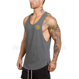 Men Gym Clothes Canada - Muscleguys Brand bodybuilding shirt men cotton gyms tank tops fitness clothing muscle singlet workout vests for men Sportwear