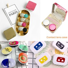 Easy Care Suits Australia - Mini Fashion Variety of styles Contact lens storage box Beautiful eye makeup care storage box Equipped mirror and accessories Easy to carry.