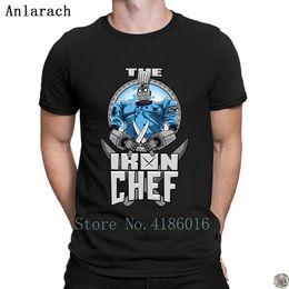 White Shirts Styles Designs For Men Australia - The Giant Iron Chef t-shirt Short Sleeve hip hop streetwear tshirt for men Design slogan Summer Style tee shirt Classical