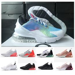 899f4005 2019 de alta calidad 27C Sneaker Hombres Mujeres Zapatos Corrientes 270  Triple Blanco Rosa Deporte 270 s Botas Mujer Zapatos deportivos Zapatillas  de ...