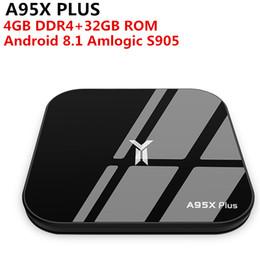 Media Player Australia - A95X Plus TV Box Android 8.1 Amlogic S905 Y2 4GB DDR4 32GB ROM 2.4G  5G WiFi USB3.0 BT4.2 Support 4K H.265 Smart Media Player