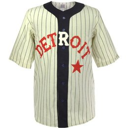 Chinese  Detroit Stars 1920 Home Jersey Double Stiched Name & Number & Logos For Men Women Youth Customizable manufacturers