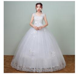 Ankle Length High Neck Wedding Dresses UK - New Arrival Spring Pregnant Lace High Waist Wedding Dress 2018 vestidos de noiva V Neck Bridal Pregnant Women Dress