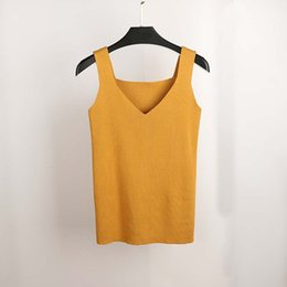 c94f9cf18eddd5 Blouse pipe online shopping - Sexy Crop Top Knitted Summer Tank Top Women  Blouse Sleeveless V