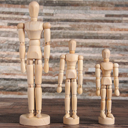 Discount art parts - 2018 Artist Movable Limbs Male Wooden Toy Figure Model Mannequin bjd Art Sketch Draw Action Figures Toy 5.5-8 inch OTH88