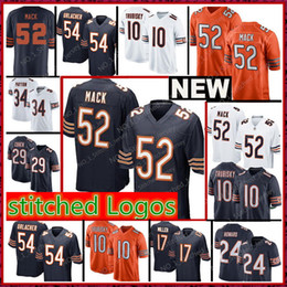 Chicago Bears  52 khalil Mack jersey Mens 10 Mitchell Trubisky 54 Brian  Urlacher 34 Walter Payton 24 Howard 29 Tarik Cohen Football Jerseys 1b25422e3