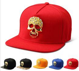 Skull Cap Ball Canada - High Quality 2018 Star Hats Skull Snapback Gold Ball Caps Hip Hop Baseball Hats Popular Mens Sports Adjustable Hats DJ Gift 009