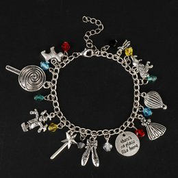 $enCountryForm.capitalKeyWord NZ - Jewelry of A fairy tale The Wizard of OZ Bracelets for Women Bracelet in Chain Pendants Vintage Accessories Cosplay Charms