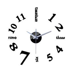 Discount reloj pare - 2016 new 3d clock wall clocks reloj de pared watch large decorative diy stickers modern design Living Room Quartz free s