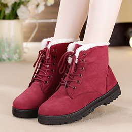 a4276c7f6ca Snow Boots Classic Heels Suede Women Winter Boots Warm Fur Plush Insole  Ankle Women Hot Lace-up Shoes Woman H-288
