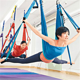 Sports & Entertainment Outdoor Fitness Equipment Trustful Parachute Fabric Inversion Therapy Anti-gravity Yoga Hammock Hanging Swing Yoga Hammock Swing Parachute Gym Hanging