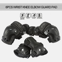Tactical Protective Gear Australia - 6pcs Elbow Pads Wrist Pads Sports Roller Skating Elbow Knee Wrist Protective Guard Gear Pad Knee tactical 2018 New